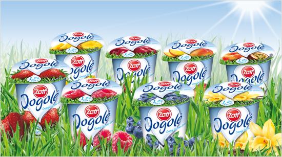 Zott Jogolé 1,2% Fett schmeckt dank neuer Rezeptur jetzt noch cremiger. Den leichten Fruchtjoghurt gibt es in acht leckeren Sorten – darunter ganz neu …