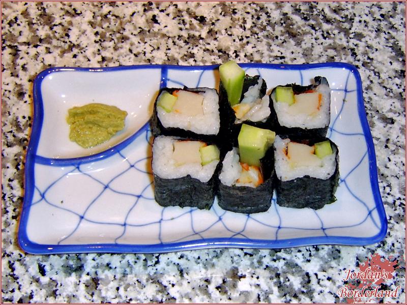 Futo-Maki mit Krebsfleisch & Gurke