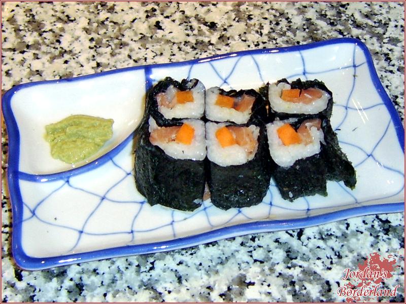 Futo-Maki mit Lachs & Karotte