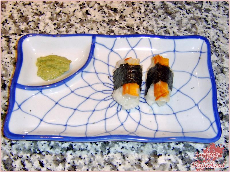 Nigiri - Krebsfleisch mit Nori