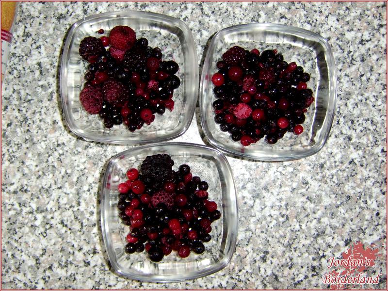 Tiefgekühlte Früchte