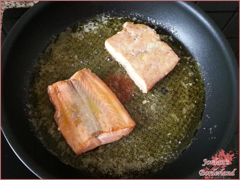 Lachs mit Butter braten