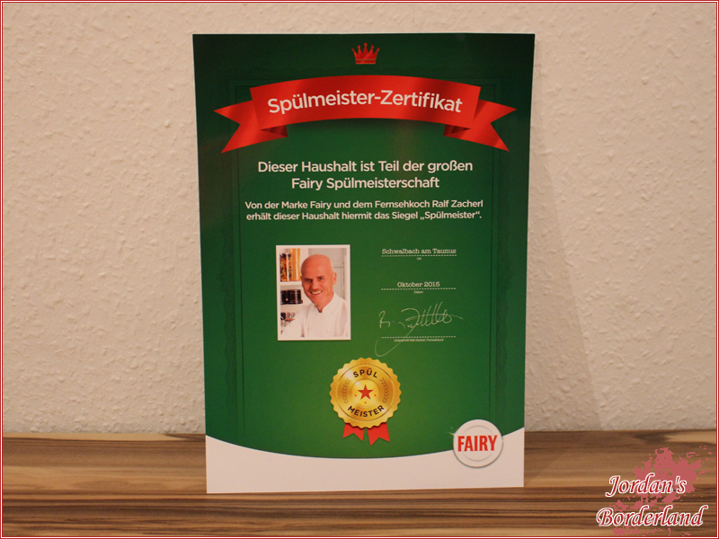 Spülmeister-Zertifikat