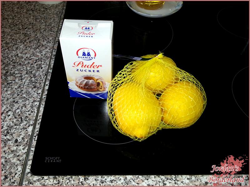 Zitronenkuchenglasur