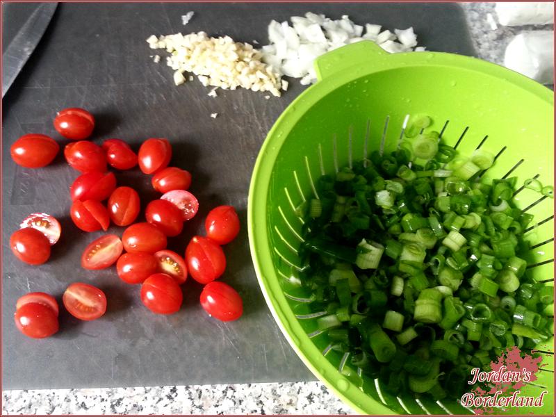 Gemüse putzen und schneiden