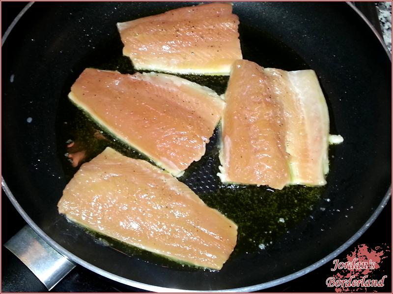 Fischfilets anbraten