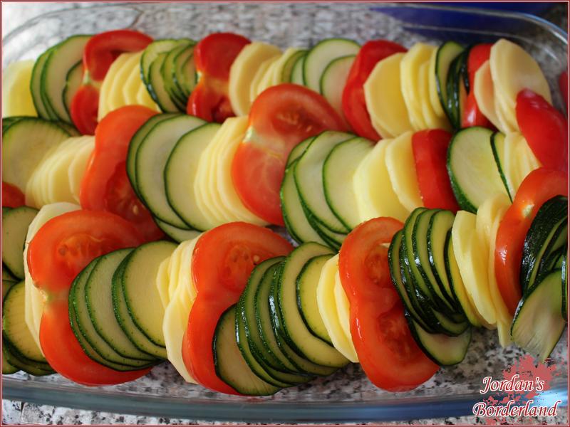 Gemüse schichten
