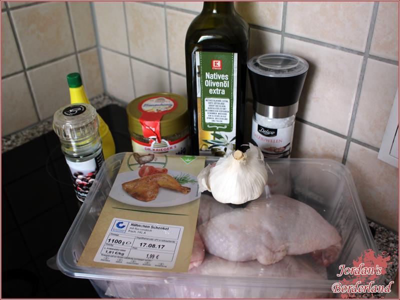 Zitronen-Knoblauch-Honig Hähnchenkeule